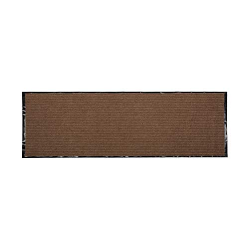 J&M Utility Doormat Heavy Duty Durable Indoor/Outdoor Ribbed and Waterproof 22x60