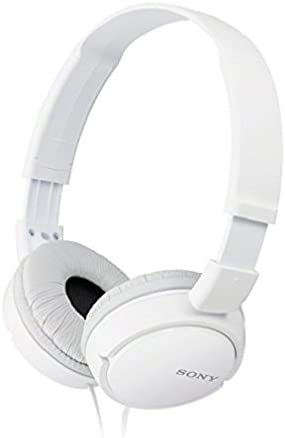 Sony MDRZX110AP ZX Series Extra Bass Smartphone Headset with Mic White