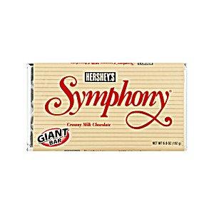 Hershey's Symphony Milk Chocolate Bar, 6.8-Ounce Bars (Pack of 6)