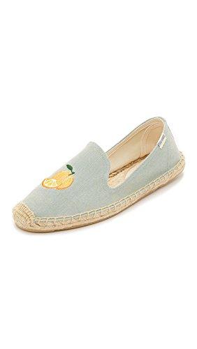 Mimosa Chambray Soludos Flat Slipper Women's Smoking Embroidery wqY7XYS