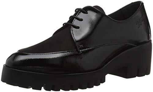 Negro Zapatos 7 23851 Cordones para Negro Mujer de 24 HORAS Oxford qaOFff