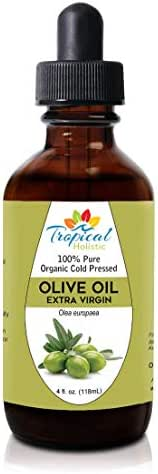 Extra Virgin Organic Olive Oil 4 oz - Cold Pressed Unrefined - Use For Face, Baby Skin, Hair, Food Grade, Ear Wax