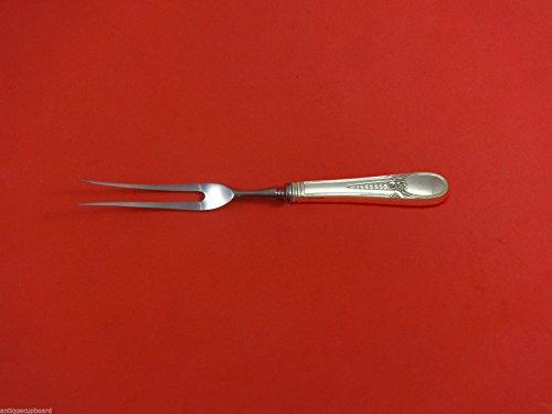 Flowered Antique by Blackinton Sterling Silver Serving Fork/Roast Fork Custom - Blackinton Fork