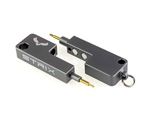 STRIX T9 Multi Herramienta – 1,5, 2, 2,5 mm Hex Clave/Puntas Allen & 5,5 mm y 8 mm Socket – Hecho de Aluminio Macizo...