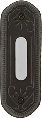 Craftmade PB3034-WB Designer Surface Mount Lighted Doorbell LED Push Button, Weathered Black (4.25