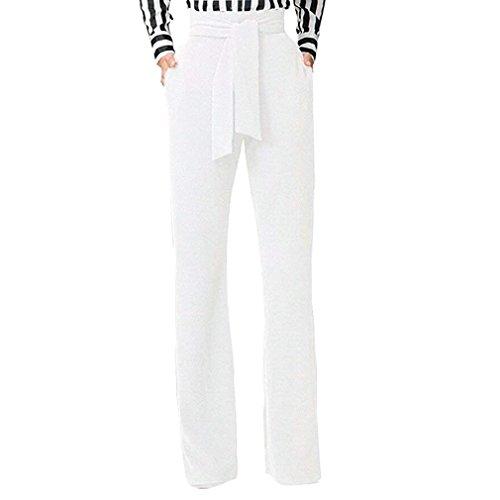 Pantalone Solidi Cintura Pantaloni Inclusa Ragazze Vita Stoffa Sciolto Vita Libero Alta Pantaloni A Colori Pants Donne Moda Pantaloni Bianca Donna Di Pantaloni Giovane Tempo Larghi Comodo Elegante HB7vRwHrq
