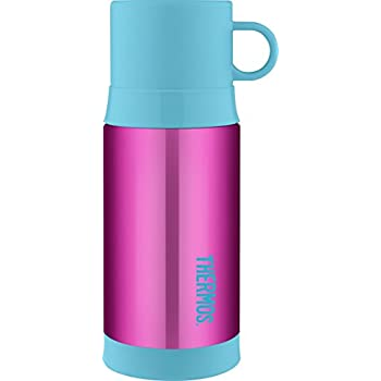 Thermos Funtainer 12 Ounce Warm Beverage Bottle, Pink/Teal