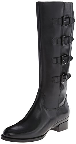 ECCO Women's Sullivan Buckle Riding Boot,Black,37 EU/6-6.5 M US