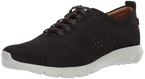 - Marc Joseph New York Mens Genuine Leather Grand Central Sneaker, black nubuck, 11 D(M) US