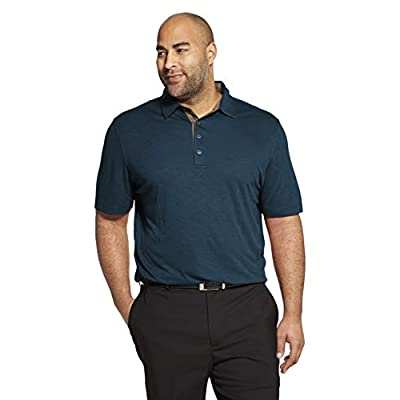 Van Heusen Men's Short Sleeve Air Performance Solid Polo Shirt at  Men's Clothing store