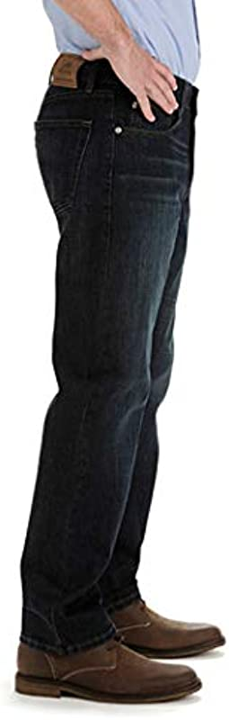 Lee Big & Tall Custom Fit Relaxed Straight Leg dżinsy męskie: Odzież