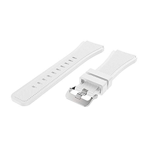 Gyswshh Smart Bracelet Watch Band Replacement Silicone Waterproof for Samsung Galaxy S3 White
