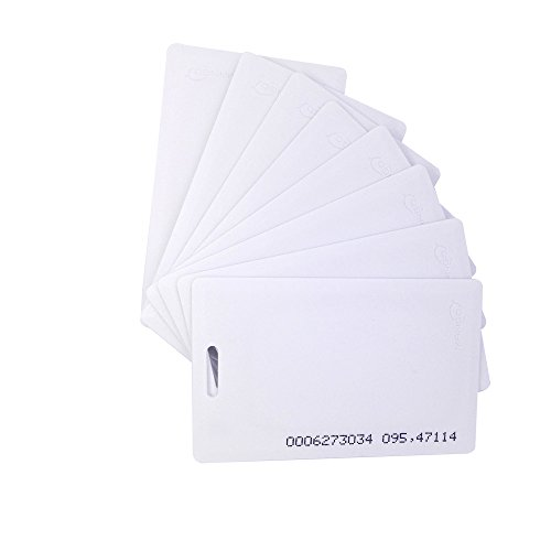 25pcs RFID 125khz Proximity clamshell ID card TK4100(thick card) compatible with EM4100 support ID Smart card entry access control system,key card,membership card(Thickness 1.8mm) by Fongwah