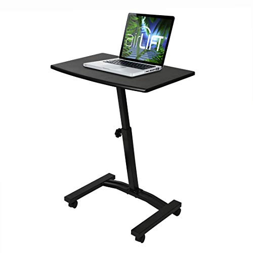 Seville Classics OFF65854 Mobile Laptop Computer Desk Cart Height-Adjustable from 20.5
