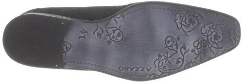 Azzaro - Zapatos de cordones de terciopelo para hombre Negro (Noir)