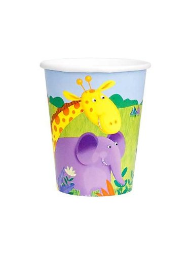 Creative Converting Jungle Buddies Paper Party Cups, 8 Count, Health Care Stuffs