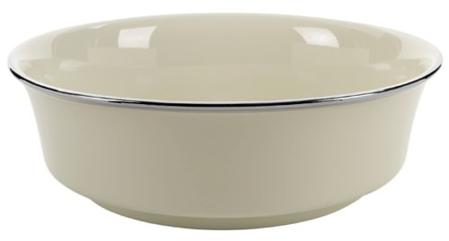 Lenox Solitaire Platinum-Banded Fine China Serving Bowl ()