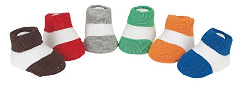 Country Kids Baby Boys' Classic Colorblock Stripe Stocking Stuffer Socks, Seamless Toe, 6 Pair Gift Set, Fits Newborn up to 3 months