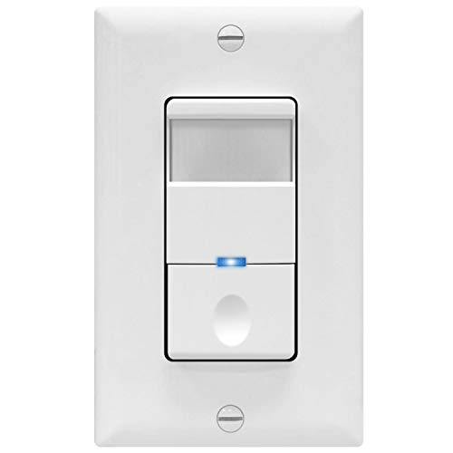TOPGREENER Motion Sensor Switch, 4A, No Neutral Required, Single Pole, TDOS5-J-W, White