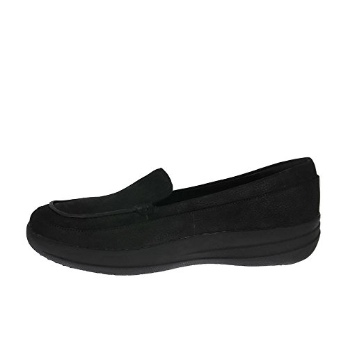 Fitflop F-sporty Loafer Nubuck - Mocasines Mujer Black (Black)