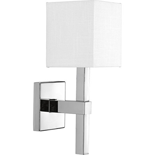 (Progress Lighting P710016-015 Metro Polished Chrome One-Light Wall Sconce,)