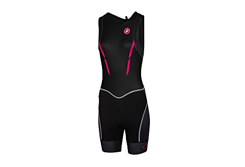 Castelli Women's Free ITU Tri Suit (Black/Pink Fluo, - Tri Itu Suit