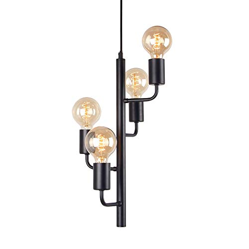 Giluta Simplism Sputnik Chandelier Modern Pendant Light Industrial 4 Lights Pendant Ceiling Light for Kitchen Dining Room Living Room Office Pendant Lighting Fixture (C0046)