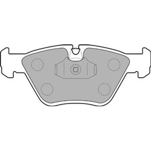 Bremsbel/äge Set Vorne Delphi Bremsscheiben /Ø242Mm