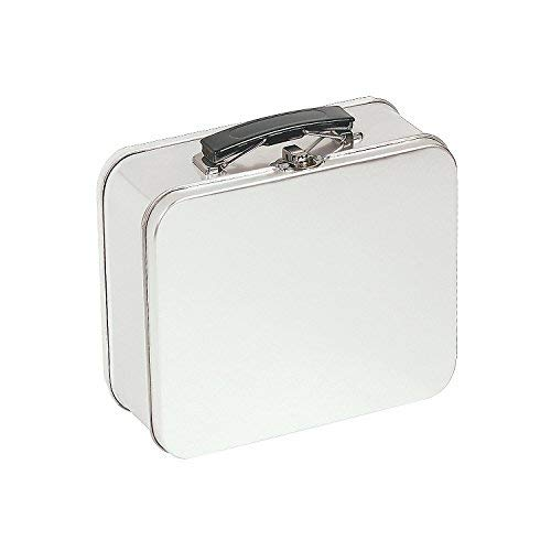 Metal Tin Lunch Box for Kids - White Blank Design for DIY Options - Vintage