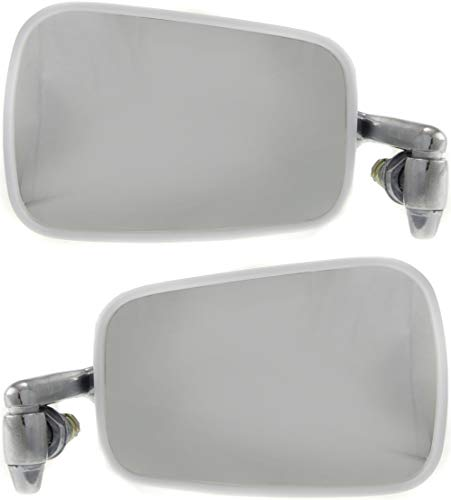 Mirror Compatible with 1968-1977 Volkswagen Beetle Manual Chrome Passenger and Driver Side