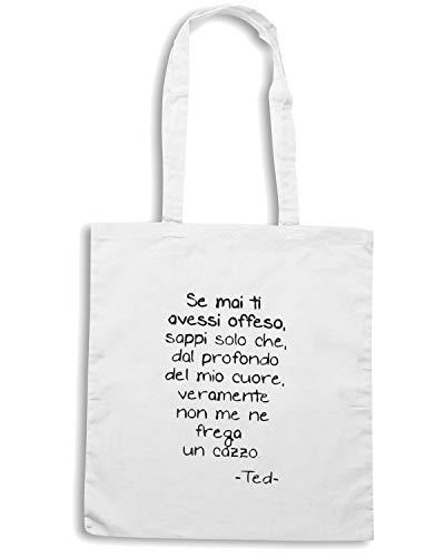 Speed Shirt Borsa Shopper Bianca TDM00241 SE MAI TI AVESSI OFFESO