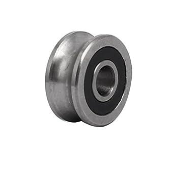 uxcell SG10 4 mmx13mmx6 mm sellado U-groove rueda Ferroviario rodamiento de bolas: Amazon.es: Amazon.es