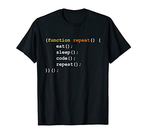 Eat Sleep Code Repeat - Funny T-shirt