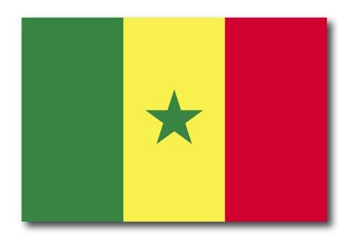 Senegal Senegalese Flag Car Magnet Decal - 4 x 6 Heavy Duty for Car Truck - Senegal Flag Colors