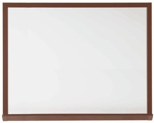 UPC 098839015333, Architectural High Performance Magnetic Wall Mounted Whiteboard Surface Color: High Gloss White, Size: 4' H x 6' W, Frame Finish: Walnut Wood Grain