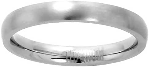 3mm Titanium Plain Wedding Band Thumb Ring / Toe Ring Comfort-Fit Brushed 5/16 inch, sizes 5 - 12