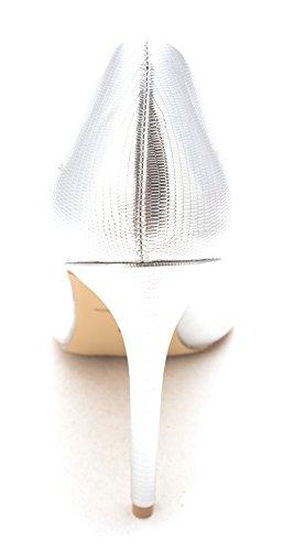 Daya Di Zendaya Womens Kyle 11 Scarpe A Punta Classiche Argento / Met