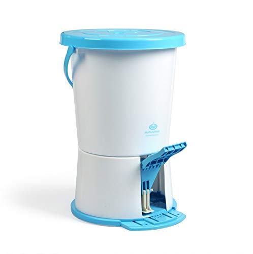 MyPortaWash Compact Portable Non-Electric Washing Machine for Delicates. Also perfect for camping, hotel stays, RVs and dorm or apartment living.