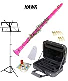 Hawk Pink Bb Clarinet Package with Case Reeds Music Stand and Cleaning Kit WD-C213-PK-PACK