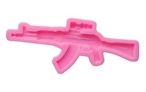 Yunko AK103 Assault Rifle Silicone Fondant Cake Decorating Candy mold