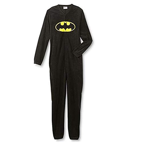 DC Comics Batman Young Men's One-Piece Pajamas (X-Large, Black) -