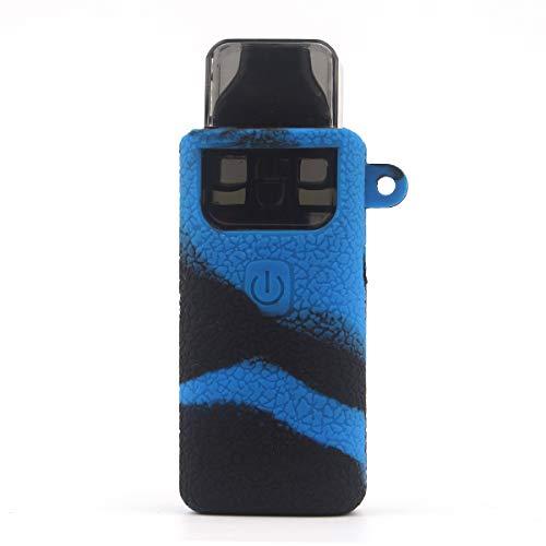 CEOKS for Aspire Breeze 2 Silicone Case, Anti-Slip Protective Silicone Case Skin Rubber Cover for Aspire Breeze 2 TC Mod Box Rubber case wrap Shield (Black/Blue) (Breeze Case)
