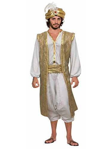 Forum Men's Desert Prince Costume, White/Gold, -