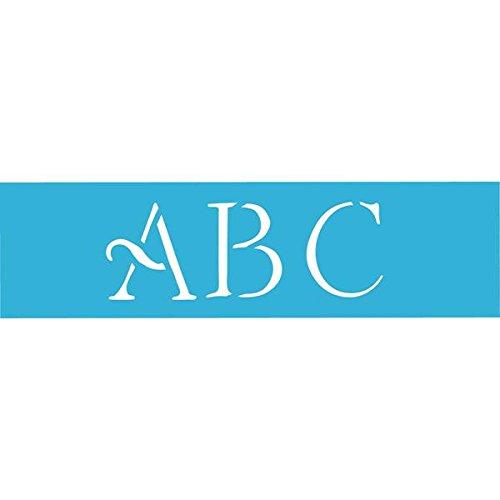 DecoArt 6-Inch-by-18-Inch Stencil Home Decor Series, 3-Inch Simple Script (Alphabet Wall Stencils)