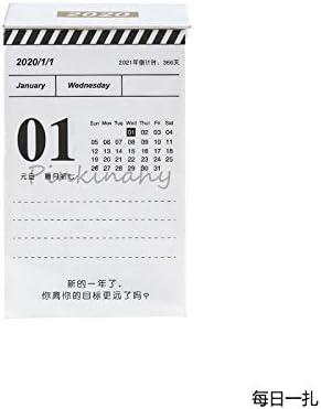 Tischkalender Kalendarien Neu 2020 Einfacher Kalender Tagesplan Mini-Desktop-Papier Kalender Täglich Scheduler Tabelle Planner Jahr Agenda Organizer (Color : 1)