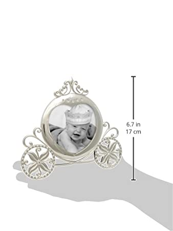 Little Princess Crown Stephan Baby Royalty Collection Keepsake Silver Plated Frame