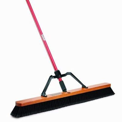 Libman Commercial 850 36'' Smooth Sweep Push Broom - Brace Handle - Lot of 3
