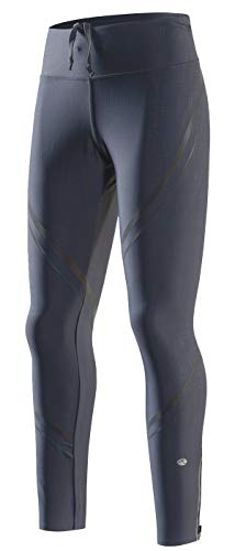 RION Active Women's Running Leggings Workout Jogging Tights Pants with Drawstring Grey ()