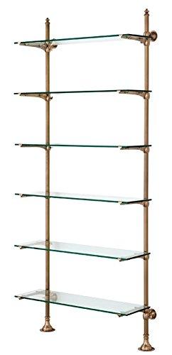 Casa Padrino Designer Wandregal Antik Messing 100 X 41 X H 240 Cm
