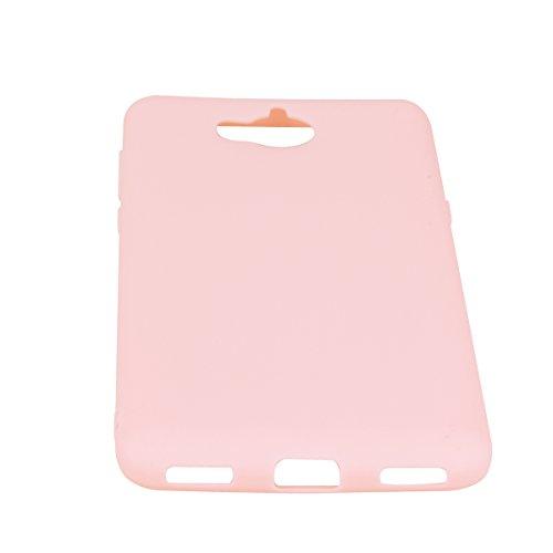 Funda Huawei Y5 2017 Carcasa,Frote el color del caramelo TPU Protección de arañazos manga diseño Case Bumper Funda Ultra Diseño creativo de moda for Huawei Y5 2017 -negro rosa